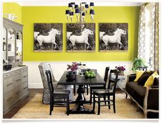 Providing the paint colors used in Ballard Designs catalogs is difficult but our team of stylists provided paint colors that are close to the actual wall colors. Favorite Paint Colors, Equestrian Decor, Tall Ceilings, Dining Room Walls, Ballard Designs, Wall Colors, Colours, Home Furniture, Furniture Ideas