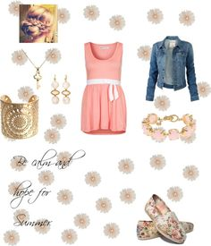 """""""Be Calm and Hope for Summer"""" by fashiondesigner5968 ❤ liked on Polyvore"""