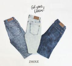 #GetYourDenim  Elegi tu Jean en nuestros locales Zhoue:  www.zhoue.com.ar/locales.  #Denim #NewCollection #Summer #OOTD