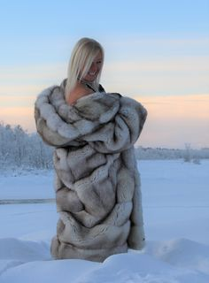 Swedish Fur Goddess in Blue Fox