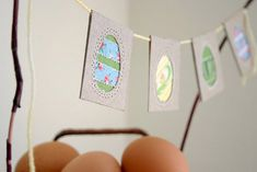 The sweetest upcycled Easter Egg Bunting via Poppytalk!