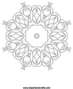 lotus mandala fish mandala coloring page design