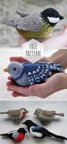 Amigurumi Sparrow Free Pattern - DIY with Yarn - Knitting, Crochet, Embroidery - . : Amigurumi Sparrow Free Pattern – DIY with Yarn – Knitting, Crochet, Embroidery – Crochet Bird Patterns, Crochet Birds, Crochet Patterns Amigurumi, Cute Crochet, Knitting Patterns Free, Free Knitting, Knit Crochet, Amigurumi Doll, Knitting Toys