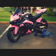 black and pink street bike!