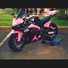 black and pink street bike!
