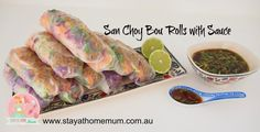 San Choy Bow Rolls with Sauce is a beautiful fresh summer dish that is light but very filling. We also have the traditional San Choy Bow recipe, but this is something a bit different.