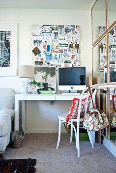 desk space in living room