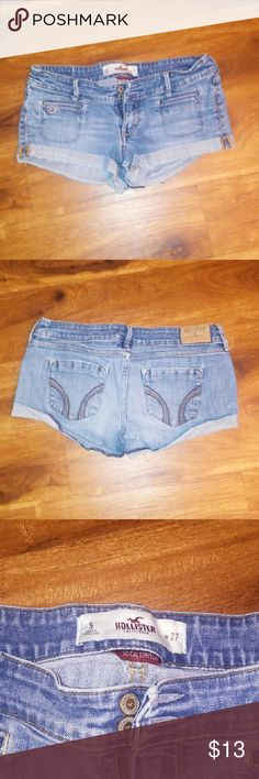 Hollister shorts Size 5 Hollister shorts Perfect condition  ? BUNDLE AND SAVE? Buy one item and get $1 off each? item purchased as well as  ?15%off bundle?  Check out all my other items as I am doing a closet clean out. I am excepting most reasonable offers! Shorts Jean Shorts