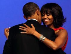 "After all the pomp and circumstance of the day, the first couple are having a romantic evening.    The first lady just tweeted: ""Just danced to ""Let's Stay Together"" with the love of my life and the President of the United States. I'm so proud of Barack. -mo"""