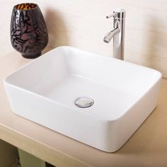 Free Shipping. Buy Ainfox Bathroom White Rectangle Porcelain Ceramic Vessel Vanity Sink Art Basin with Chrome Faucet and Pop up Drain Combo at Walmart.com