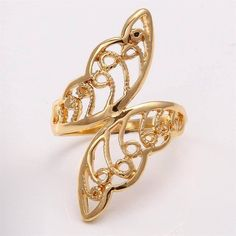 Fashion 10K Yellow Gold Filled Womens ring - $21