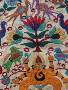 Vintage hand embroidery from Gujarat Indian Embroidery, Hand Embroidery, Kantha Quilt, Quilts, India Pattern, Indian Art, Indian Style, Popular Art, Brocade Fabric