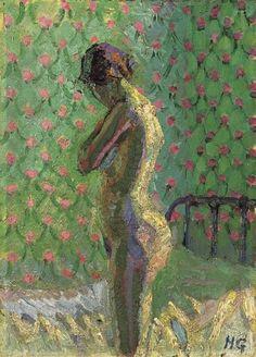 zombienormal: Harold Gilman (1876-1919) - Nude Standing By a Bed, circa 1916. Christie's London, 2010 Via.