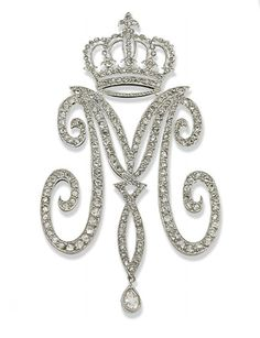 Glitter Of Jewelry Diamond Imperial Cyphers The Empress Maria Feodorovna