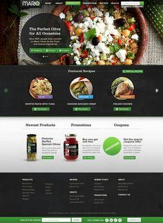 #Webdesign for #food 83oranges.com http://toopixel.ch