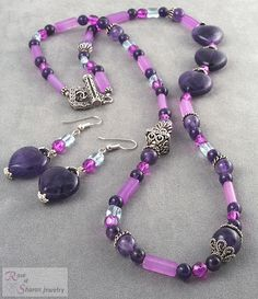 This is a cool #amethyst #necklace  Repin, Like, Share!  Thanks!