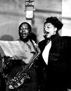 Louis Jordan and Ella Fitzgerald