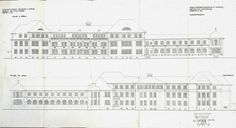 Opava - Architectural plan for the new lung diseases pavilion at the Opava Land Hospital, 1920. Source: Czech National Archives
