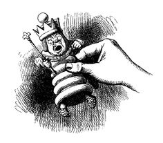 Digital Stamp Design: Free Alice in Wonderland Digital Stamp: Alice Holding King Chess Piece