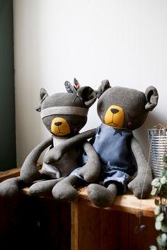 Handmade Bear Cloth Dolls