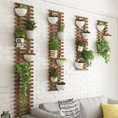 A Room Iron Art Green Laojia Multi-storey Indoor Balcony Simplicity Modern Northern Europe Meaty Shelf Household Flower Rack - AliExpress Mobile Hanging Flower Pots, Hanging Plants, Indoor Plants, Flower Wall, Indoor Outdoor, Indoor Balcony, Outdoor Spaces, Plant Ladder, Garden Ladder