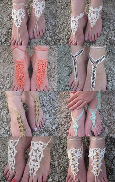 Barefoot Sandals by Dragana Mitrovic on Etsy--Pinned with TreasuryPin.com