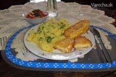 Patizón vyprážaný v cesnakovom syre (fotorecept) - Recept Meat, Chicken, Food, Essen, Meals, Yemek, Eten, Cubs