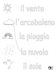 Italian Worksheets for Kids ~ Spring Printout Italian ~ Italian Activities for Children