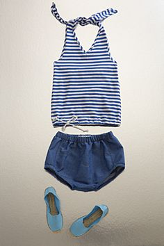 nautical halter top by flora and henri