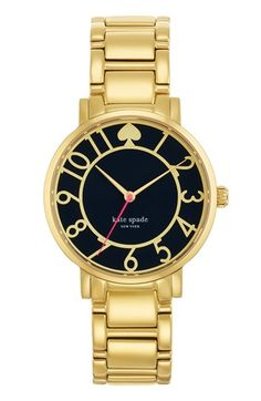 Navy. kate spade new york 'gramercy' round bracelet watch, 34mm available at #Nordstrom
