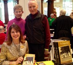 Author Angie Klink with Purdue Dean of Students Emerita Betty M. Nelson and husband Dick at Indiana Historical Society Holiday Author Fair, December 6, 2014.