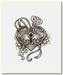 Výsledek obrázku pro heart locket and key tattoo
