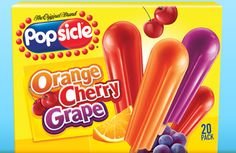 Popsicles - IMPORTANT: Please read ingredient labels. Manufacturers continually change packaging and processing.
