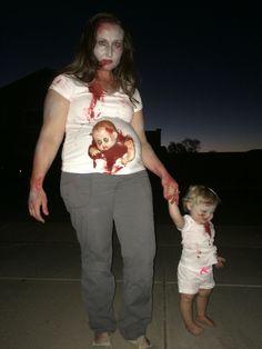 Unborn zombie & zombie toddler