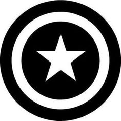 Cap A Shield Visit my website to order one! Stencil Art, Stencils, Avengers Symbols, Avengers Art, Captain America Logo, Golf Course Reviews, Marvel Drawings, Disc Golf, Clipart Black And White