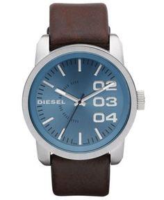 Diesel Watch, Brown Leather Strap 54x46mm DZ1512