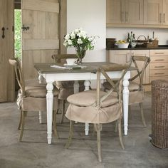 Rustic Isabella large dining table has two extra leaves capable of seating up to 10 people. Top has a weathered oak finish. Kitchen Seating, Kitchen Decor, Kitchen Dining, Kitchen Ideas, Country House Interior, Country Homes, Muebles Living, Oak Dining Chairs, Interiors Magazine