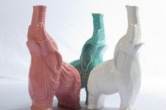 Vintage Ceramic Elephant Bud Vase Home decor flower by modclay