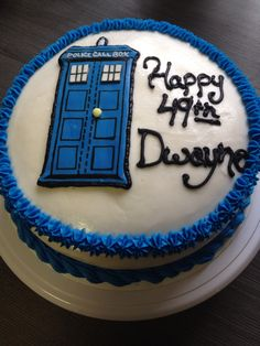 Doctor Who Call Box cake-Made by Melia Healy