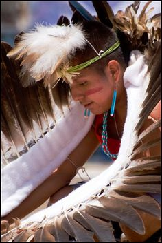 Eagle Dancer - Third Mesa Dance Group (Hopi) - The Eight Northern Pueblos Arts and Crafts Show, 2008 - by Mike Spieth