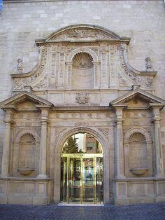 Façade of Parliament of La Rioja in Logroño -