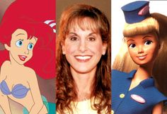 The Real Women Behind Disney Princesses - The Little Mermaid (1989) and Toy Story 2 (1999) Jodi Benson was the voice of both Ariel & Barbie. She was also the actress who played the receptionist for Patrick Dempsey in Enchanted