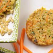 Galettes de blé aux carottes et aux poireaux - une recette Végétarien