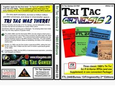 Three classic TRI TAC Sci Fi & Horror RPGs (and one Supplement) in one convenient Package! Genesis 2, Together Again, Sci Fi Horror, Dice, 1980s, First Time, The Darkest, Games, Table