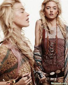long hair styles for women Bohemian 2014 style