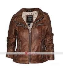 Resultado de imagen para womens brown leather jacket