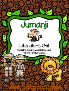This is a cute new literature unit on the book Jumanji. It is a quick read and this lit study has lots of great activities that go with the book. https://www.teacherspayteachers.com/Product/Jumanji-Literature-Study-and-Activities-2003446