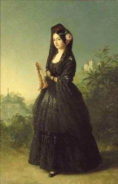Infanta Luisa Fernanda of Spain c. 1847 by Franz Xaver Winterhalter (source)