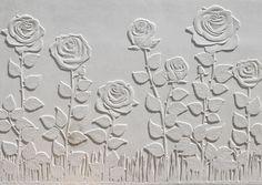 Élément en L en béton pour retenir la terre; muret préfabriqué en pierre reconstituée. Finition surface: Roses.
