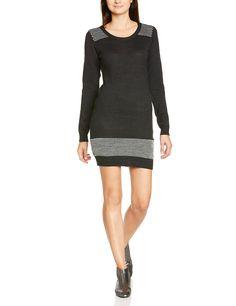 Bench BLSA1582 - Vestido de punto para mujer, color negro, talla L